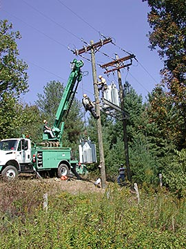 Replacing a Power Line